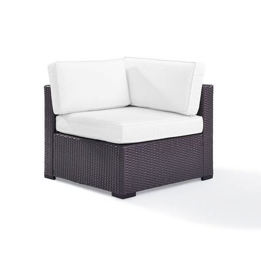 Crosley - Biscayne Corner Chair with White Cushions - 452141