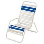 Classic Blue/White Vinyl Strap Sand Chair  Set of 4