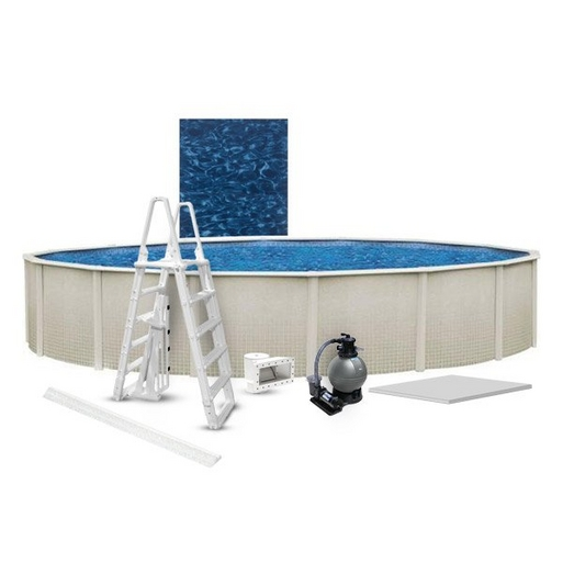 """Reprieve Premium Kit 15' Round 48"""" Above Ground Pool with Liner, Filter System, Ladder, Coving Kit, Liner Pad"""