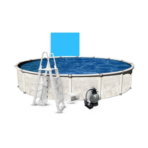 """Venture Basic Kit 27' Round 54"""" Above Ground Pool with Liner, Filter System, Ladder - B-268901"""
