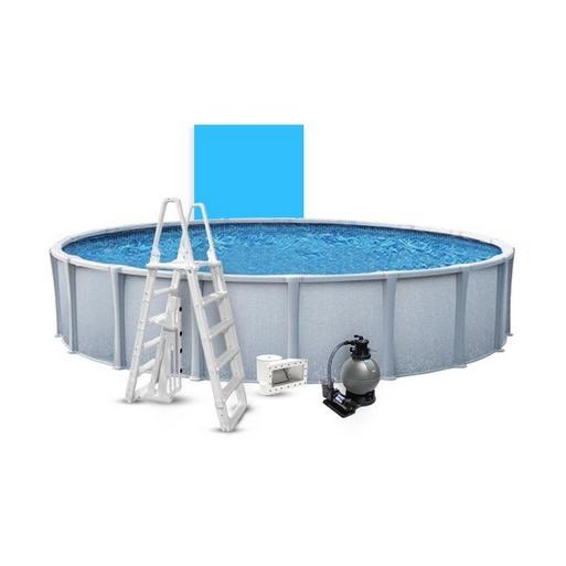 "Matrix Basic Kit 18' Round 54"" Above Ground Pool with Liner, Filter System, Ladder"