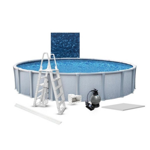 "Matrix Premium Kit 24' Round 54"" Above Ground Pool with Liner, Filter System, Ladder, Coving Kit, Liner Pad"