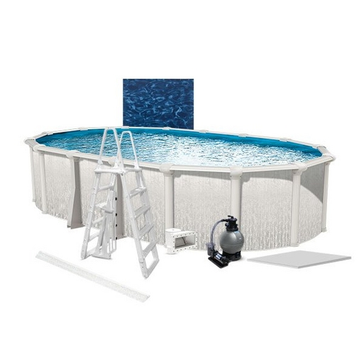 "Heritage Premium Kit 15 x 26 Oval 54"" Above Ground Pool with Liner, Filter System, Ladder, Coving Kit, Liner Pad - B-268929"