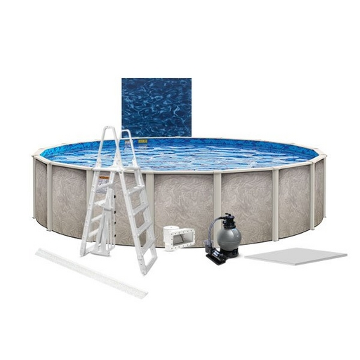 "Verona Premium Kit 16' Round 54"" Above Ground Pool with Liner, Filter System, Ladder, Coving Kit, Liner Pad"
