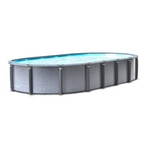 "18'x33' Oval Above Ground Pool with 52"" Wall"