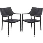 Palmer Wicker Dining Chair Set of 4 - Espresso