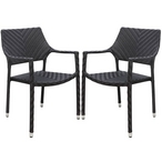Palmer Wicker Dining Chair Set of 4 - Espresso