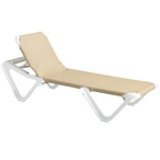 Nautical Sling Chaise Lounge Set - Khaki - B-401728