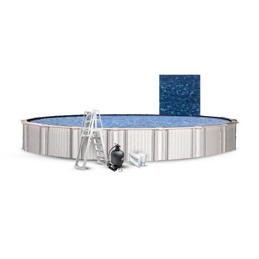 """Excursion Basic Kit 24' Round 54"""" Above Ground Pool with Liner, Filter System, Ladder"""