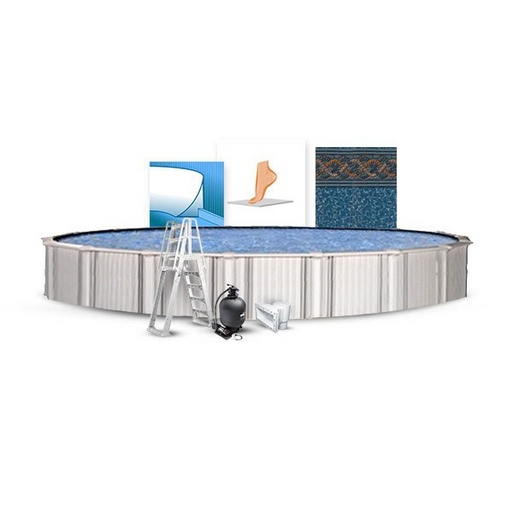 """Excursion Premium Kit 24' Round 54"""" Above Ground Pool with Liner, Filter System, Ladder, Coving Kit, Liner Pad"""