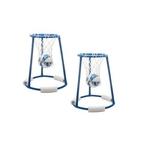 Hydro Hoop Floating Basketball Game W/ Blue Ball (2 Pack)