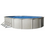 """Reprieve 18 x 33 Oval 48"""" Above Ground Pool Wall with Skimmer - B-84892"""