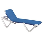 Nautical Sling Chaise Lounge - Blue