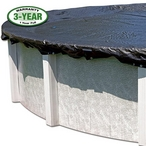 16' x 25' Oval Pool / 19' x 28' Oval Cover / 45 Clips - B-W3836