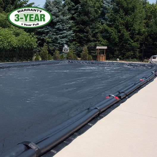 18' x 36' - Pool Size / 22' x 40' - Cover Size/ 14 Black Double 8ft. Water Tubes