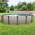 """Epic 12 x 18 Oval 52"""" Tall Above Ground Pool"""