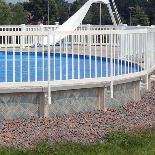 "Premium Above Ground Pool Fence Kit - 36"" Tall - MASTER-NSKU53484NEW"