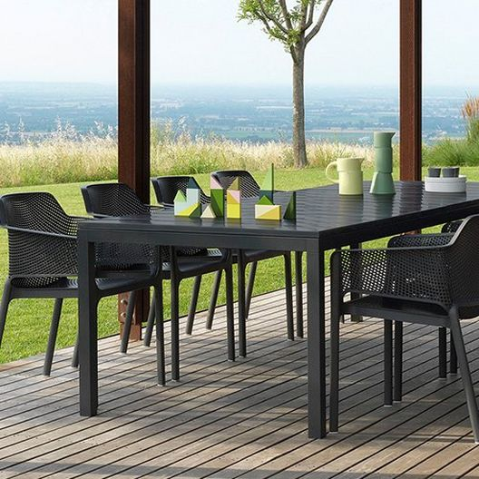 Commercial Grade Rio 210 Extension Table & Table With 8 Chairs - MASTER-prod1910018NEW