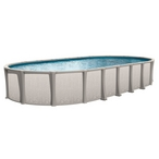 "Sharkline Matrix 15 x 26 Oval 54"" Tall Above Ground Pool - Salt Friendly"