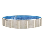 "Lomart Montessa 33' Round 52"" Tall Above Ground Pool - Salt Friendly"