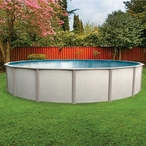 """Relaxing Meadow 24' Round 48"""" Tall Above Ground Pool"""