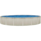 "Sharkline Reprieve 21' Round 48"" Tall Above Ground Pool"
