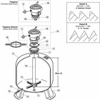 (Tagelus) TA30 / TA40 / TA50 / TA60 Sand Filter Parts - SCHEMATIC-SP_0254