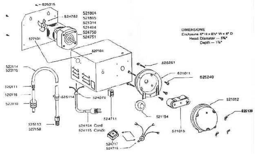 Rola-Chem RC-500/503 Chlorinator Parts image