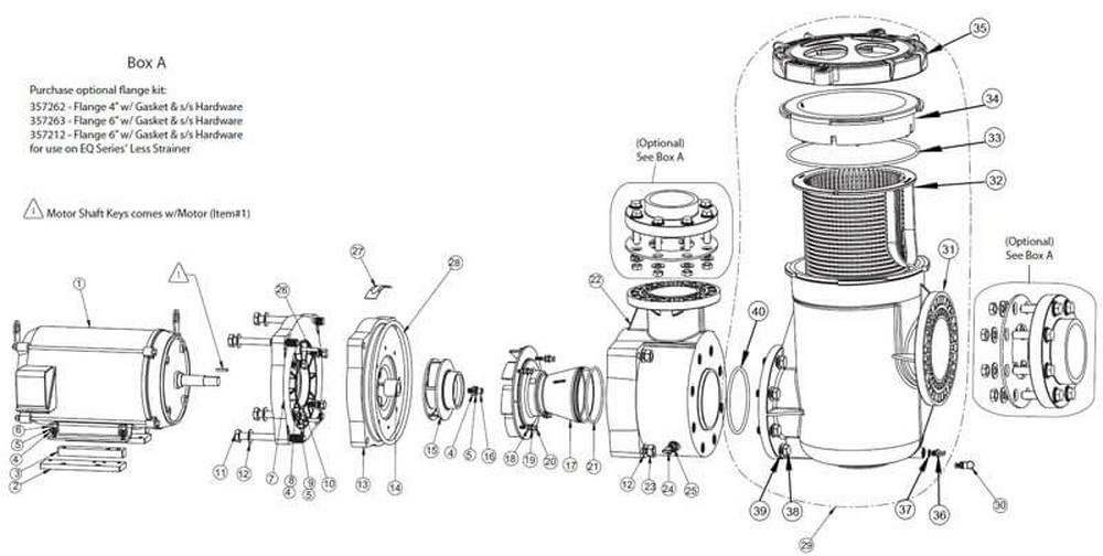 Pentair EQ Series Commercial Plastic Pump Parts image