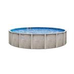 "Lomart Verona 24' Round 54"" Tall Above Ground Pool - Salt Friendly"