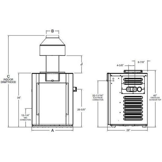 Raypak - Digital Propane 266,000 BTU Pool Heater - 51831