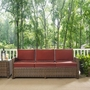 Bradenton Wicker Sofa with Sand Cushions