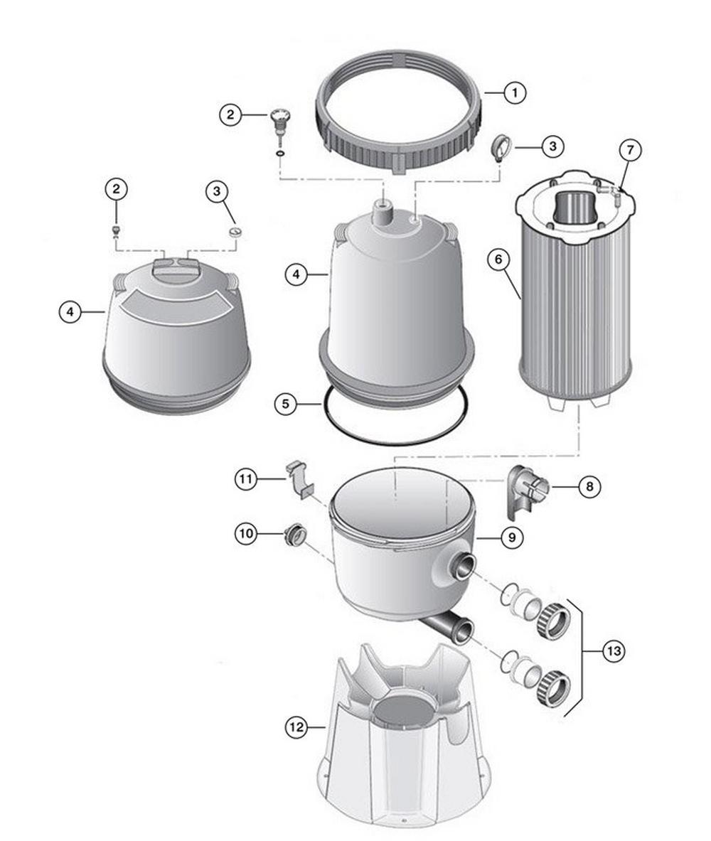2 PLDE Modular DE Filter Replacement Parts image