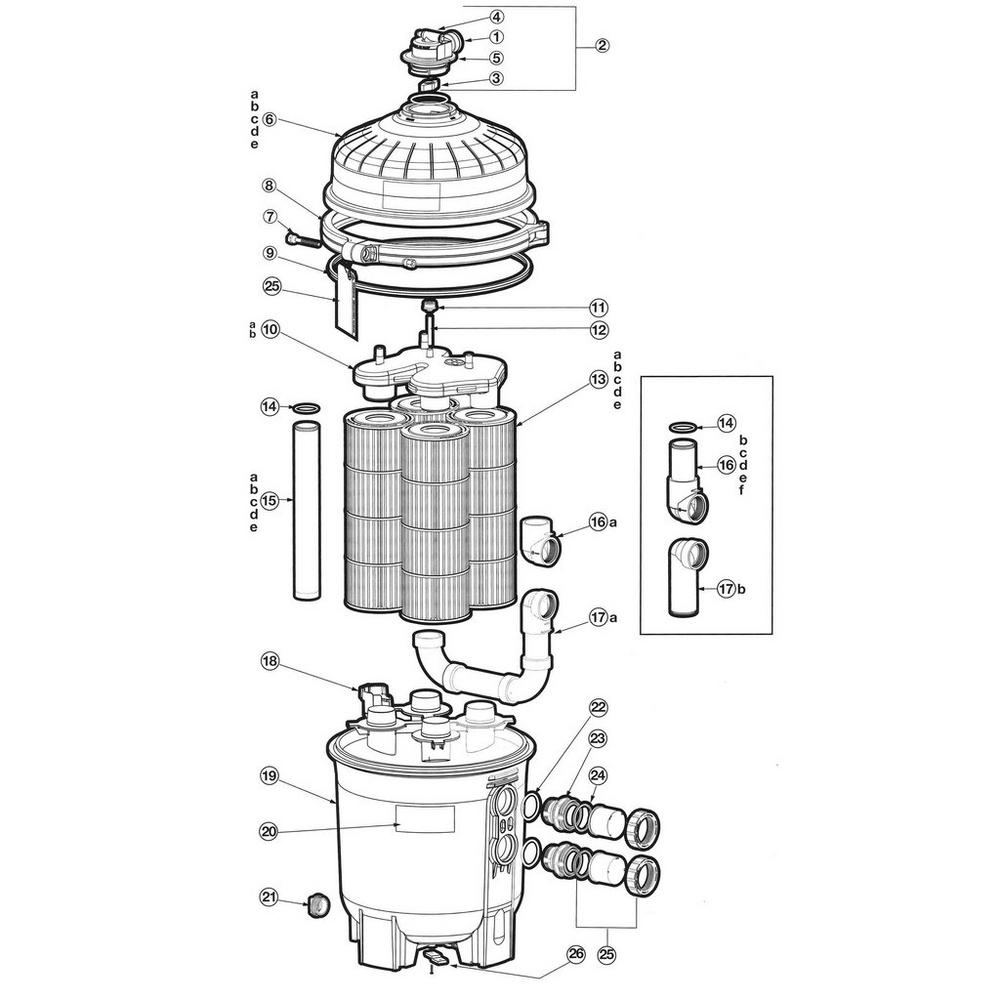 SwimClear Models: C2030, C3030, C4030, C5030 & C7030 Cartridge Filter Parts image
