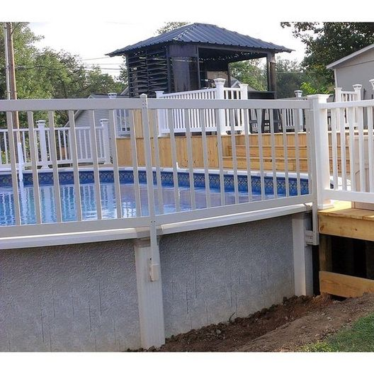 "36"" Resin Premium Above Ground Pool Fence Kit, 3 Sections"