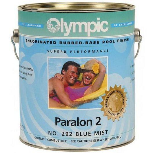 Kelley Technical Coatings - Olympic Paralon 2 Chlorinated Rubber Base Enamel, 1 Gallon, White - 313375