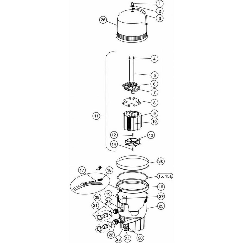 FNS Plus D.E. Filter Parts image