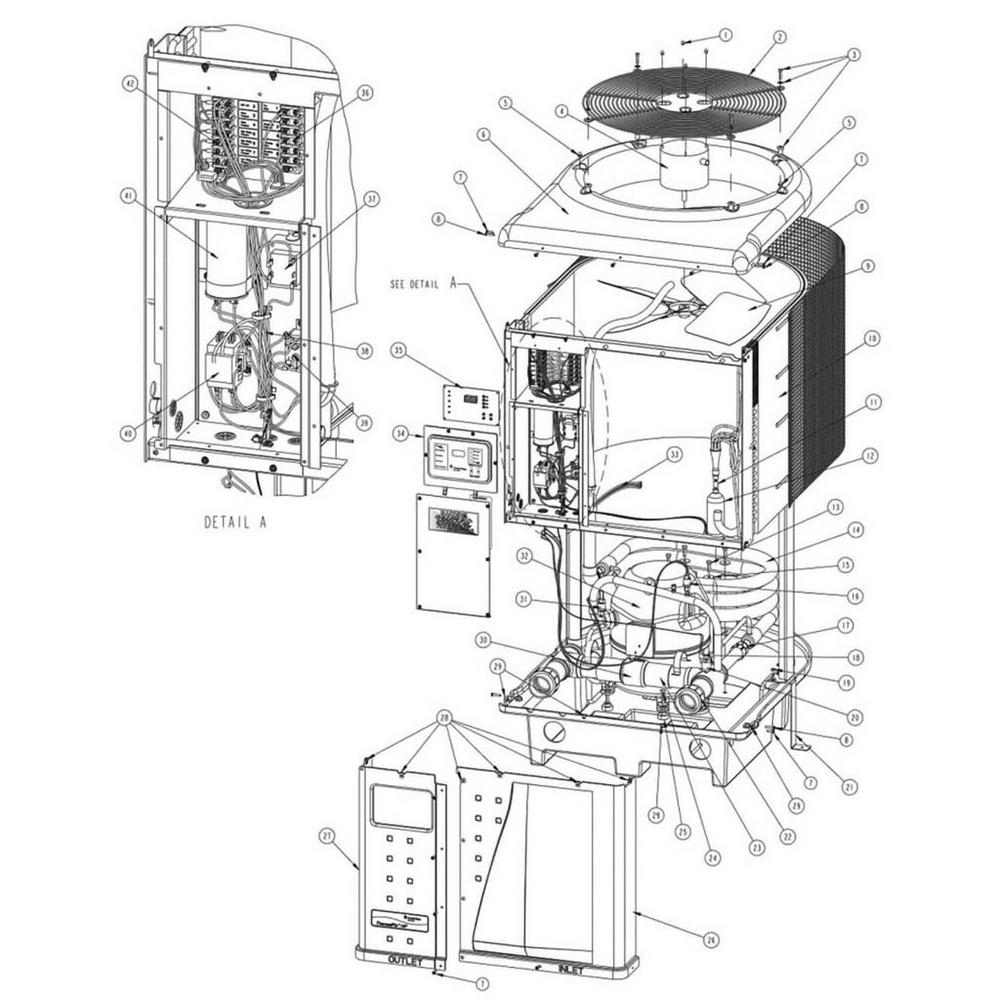 Pentair Heat Pump ThermalFlo Heat Pump image