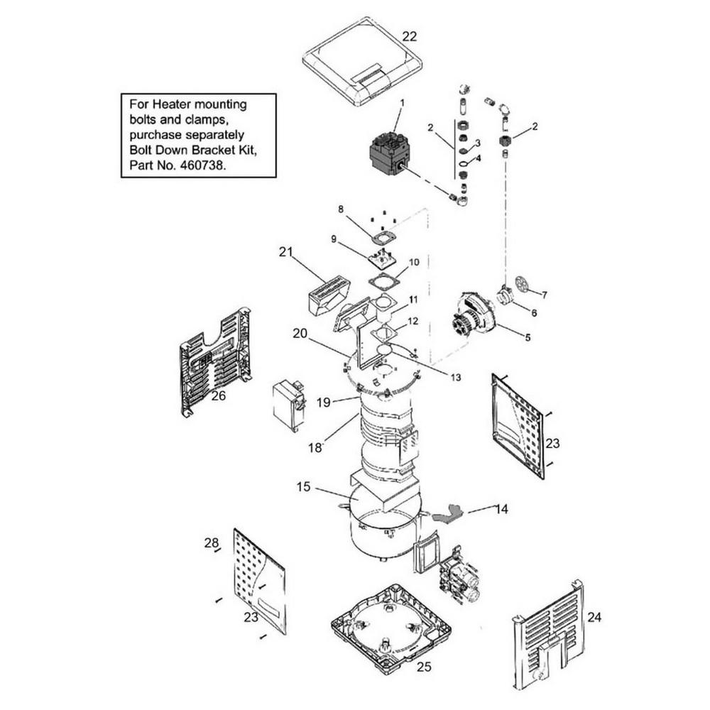 Pentair Heater MasterTemp Series Burner System image