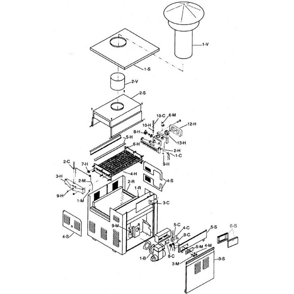 Raypak Heater 315A Oil Heater image