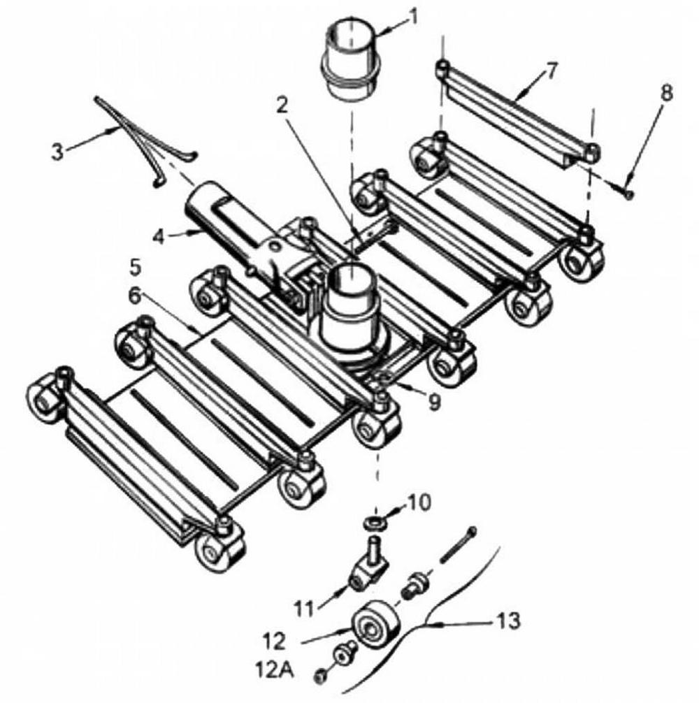 Pentair Swivel Wheel Flexible Vacuums: Models 250, 252 image