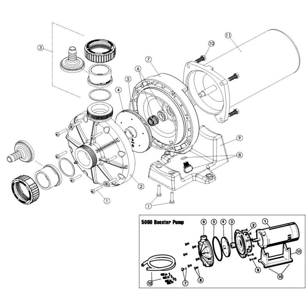 Hayward Pool Cleaner Booster Pump Models 5060 & 6060 Pump image