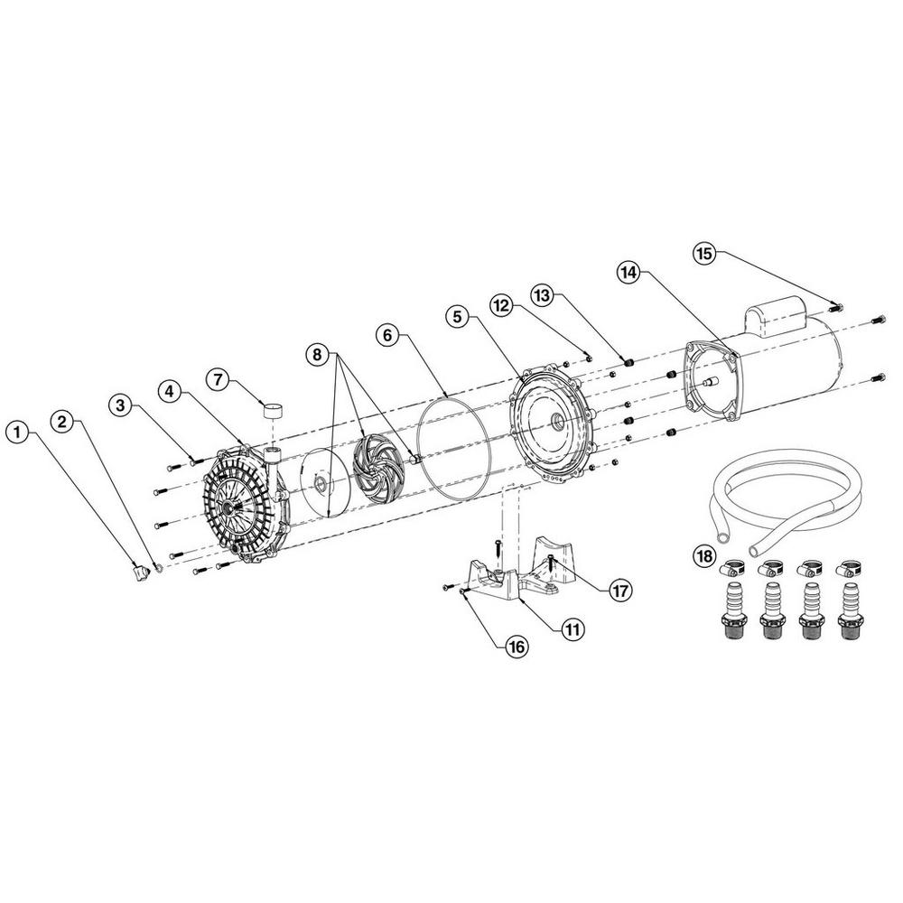 Waterway Universal Booster Pump Pump image