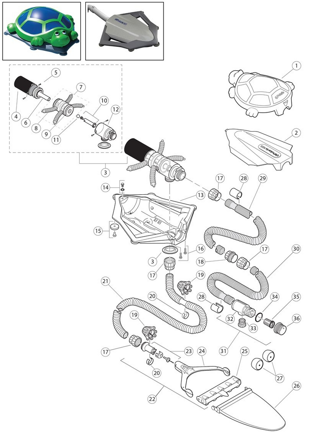 165 & Super Turtle Cleaner Parts image