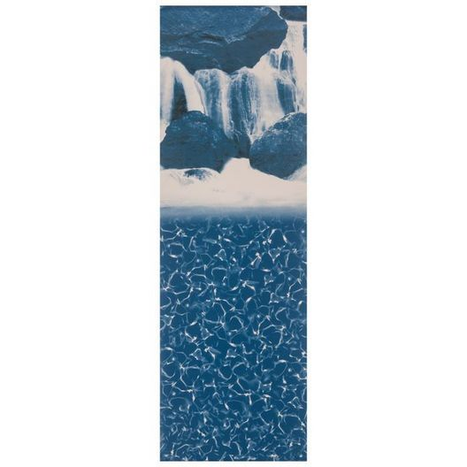 Swimline - Overlap 15' Round Waterfall 48/52 in. Depth  Above Ground Pool Liner, 20 Mil - 500191