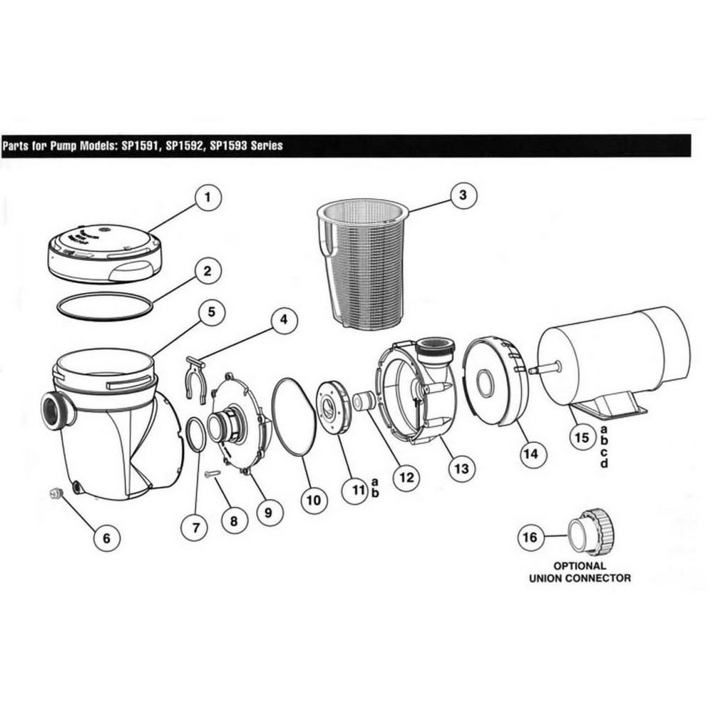 Power-Flo Matrix Series SP1590 Above Ground Pool Pump Parts image