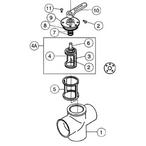 Pentair Ball & Diverter Valves Ortega 3-Port CPVC Diverter Valves