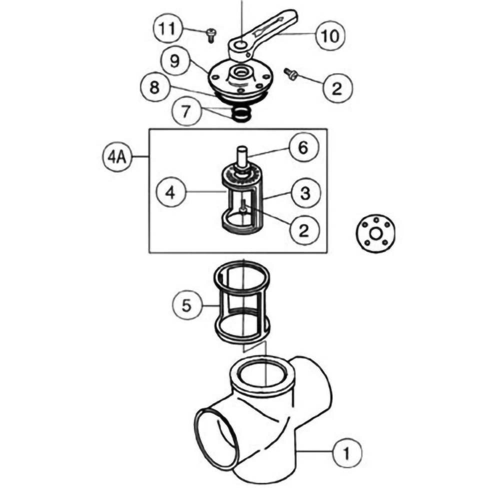 Pentair Ball & Diverter Valves Ortega 3-Port CPVC Diverter Valves image