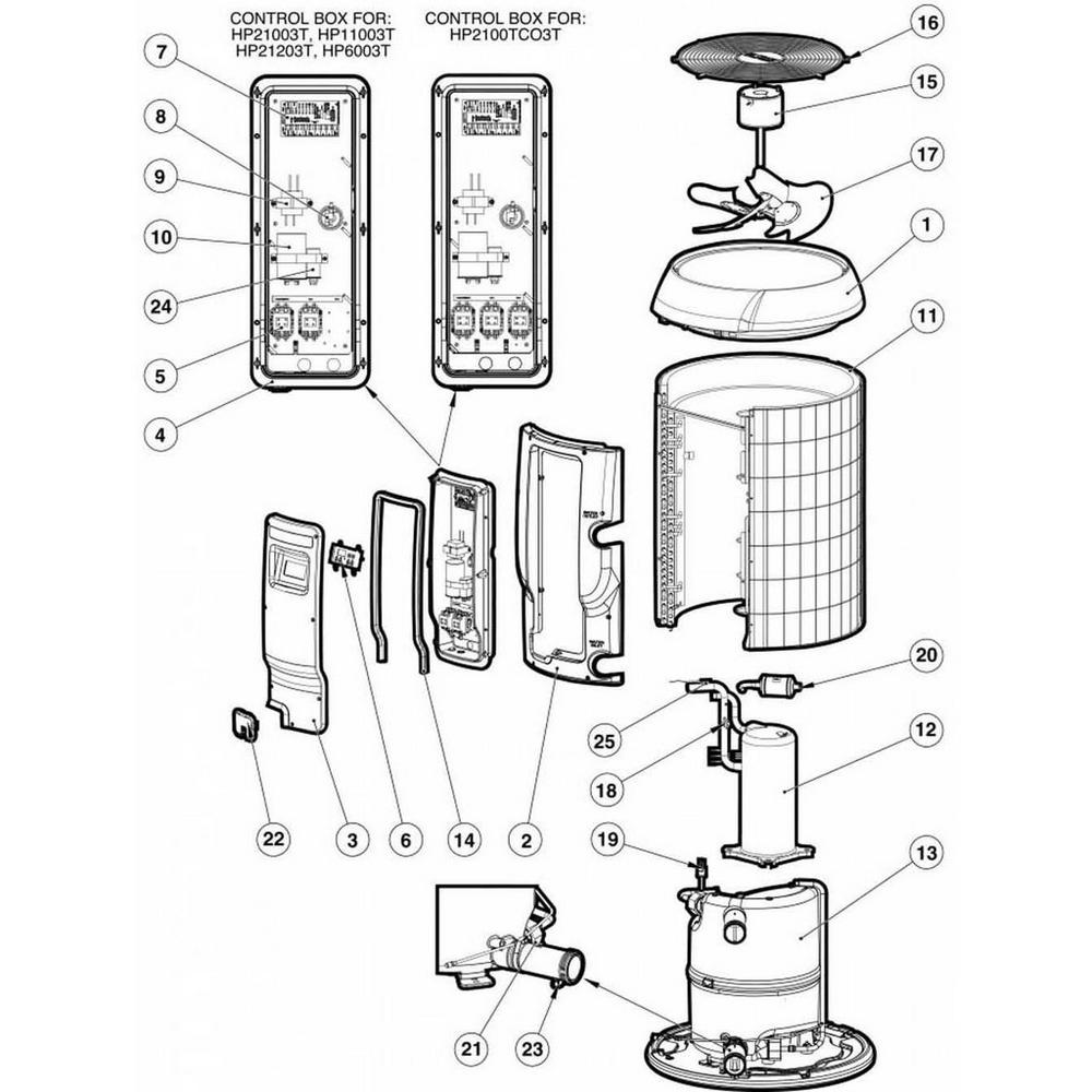 Hayward HeatPro Heat Pump HP6003T, HP11003T HP21003T HP21203T HP2100TC03T image