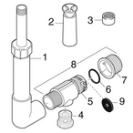 Inlet/Outlet Fittings, Wall & Floor Polaris WaterStars WF - d7f0947d-36d9-457e-b8f6-9ede73c6342d